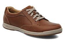 Clarks Hombre Stafford Park 5 Baja Altura Zapatillas/zapatos talla 10.5 Bronceado/Cuero/Nuevo