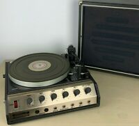 LENCO L55S TURNTABLE RONDALAY MODEL 100 MUSIC SYSTEM RECORD PLAYER W/ SPEAKER
