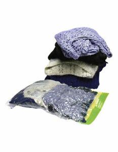 Korjo 3 Pack Compression Travel Storage Bag Set No Vacuum Required Seal Bags