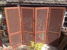4 Fensterläden Paravent Raumteiler Sichtschutz Holz Shabby Chic Top Sonnenschutz