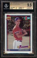 1991 Topps #333 Desert Shield Chipper Jones Rookie RC BGS 9.5 GEM MINT = PSA 10!