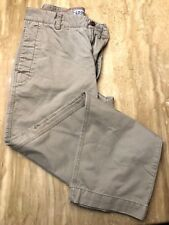 Izod Brand VINTAGE Designer Cotton Khaki Chino Pants Size 34 BEIGE