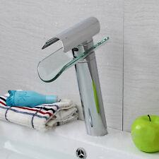 Glas Waschtischarmatur Wasserhan Wasserfall Armatur Waschbecken Einhandmischer D