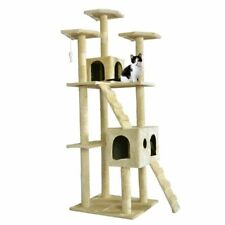 "BestPet 73"" Cat Tree Scratcher Play House - Beige"