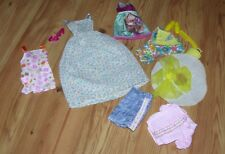 Lot of Mattel & Other Barbie Doll Clothes Dresses Skirts Shoes Comb & Bag