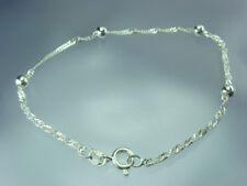 925 Silber Singapur armband 1,5 mm 19 cm Länge Silberkugeln 4mm Rund  NEU