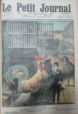 THÉÂTRE CHANTECLER GUITRY COSTUME ANIMAUX COMEDIENS  GRAVURE PETIT JOURNAL 1910