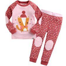"""Vaenait Baby Toddler Kids Girls Pjs Nightwear Pajama Set """"Oh Fox"""" M(3T)"""