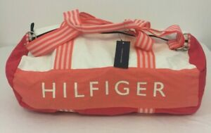 Tommy Hilfiger Canvas Collapsible Duffel Bag NWT