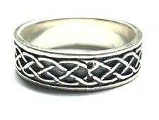 Beautiful Ladies Solid Sterling Silver Celtic Knot Ring Band - Size 9 - FREE S&H
