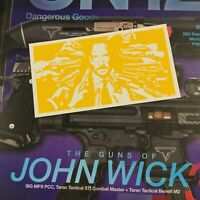 John Wick Stencil for Tumbler/ Growler/ Cerakote, Duracot, Gunkote, spray paint