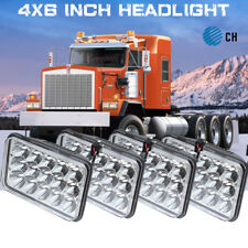 4x CREE LED Projector Headlights Hi/Low Headlamp For Kenworth C500 W900 T800