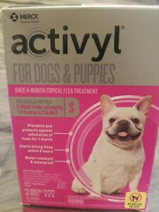 Activyl Flea Treatment Small Dogs & Puppies 3 month supply 1st class free ship