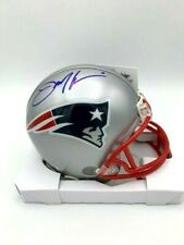 Julian Edelman Signed New England Patriots Mini Helmet COA & Holograms