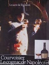 PUBLICITÉ 1986 COURVOISIER LE COGNAC DE NAPOLEON - ADVERTISING
