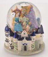 Rare The Walt Disney Classic Waterglobe Beauty and the Beast Musical Snow Globe