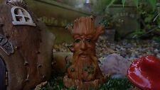 Tree trunk fairy house garden