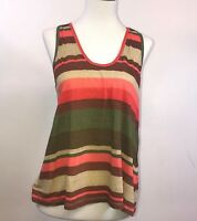 Joie Colorful Stripe Tank Top Size Small