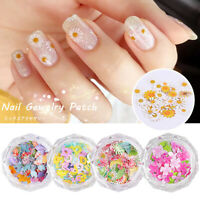 1Box Flower Nail Art Sequins Glitter Manicure Decoration Mixed Designs Slices 3D