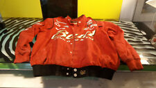 Chase Authentic Drivers Line Bud King of Beers Nascar Winston Red Jacket Mens LG