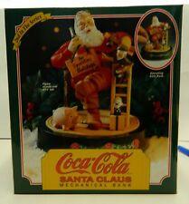 Vintage 1994 Ertl Coca-Cola Santa Claus Mechanical Bank 2nd in Series