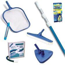 Maintenance Pool Kit for Above Ground Swimming Pools Skimmer Vacuum Hose Brush
