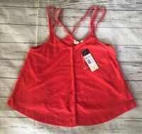 Women's Paradise Waiting Coral Tank Top-Size Small