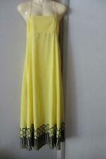 Antik Batik yellow maxi dress,size AUS 8-10, Very good condition