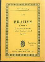 Brahms : Concerto for Violin & Violoncello a moll Op. 102 ~ Taschenpartitur