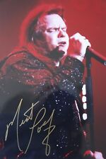 Original hand signed photo of Meat Loaf 11.9 x 8 inches mounted by Mel Longhurst