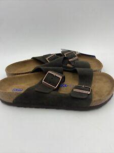 Birkenstock Womens Arizona Mocha Suede Sandals Size 40 M , 711