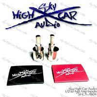 Sky High Car Audio Amp Input Reducers 1/0 to 4 ga w/ Heat Shrink Inputs 0 Gauge