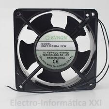 VENTILADOR ALUMINIO SVNQN 12X12X3.8CM 2500RPM 220V INCUBADORAS ENVIO 24-72H