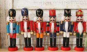 12cm Wooden Nutcracker Soldiers Christmas Walnut Hanging Ornaments Home Decor
