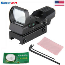 20mm Rail Red Dot Sight Reflex Green Holographic Scope Tactical Mount for Rifle