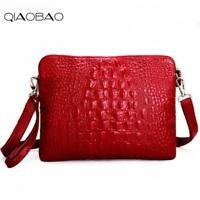 QIAOBAO 100% Genuine leather Bag Women Shoulder Bag 2018 New Arrival Classic Wom
