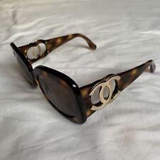 Chanel Vintage Tortoiseshell Sunglasses Gold CC Logo Retro as worn by Rihanna