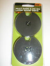 Fox Spare Discs LARGE 2pk for Multi Chod and Zig Bin Carp fishing tackle