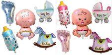 5 x Folienballon IT'S A BOY / GIRL Baby Party Geburt Luftballon Flasche Fuß Set