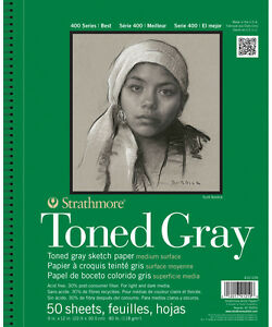 Strathmore Toned Gray Sketch Pad 9X12