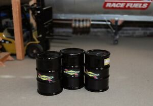 1/18 SUNOCO BLACK Race Fuel Barrels (3) Shop Garage Diorama Austin's Garage