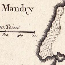 Carte Géographique XVIIIe Thorikos  Mandry Grèce  Θορικός Thoricus Torik Torico
