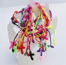 12 x  Decenarios Armbänder Glücksbringer Armband Mitgebsel Geburtstag Kreuz