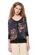 Desigual Oversized Floral 3/4 Sleeve Bertin T-shirt Top XS-XXL UK 8-18 RRP �64