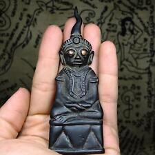 Rare Phra Chai Ngang BuchaNang Kamen from Cambodia100-200year old Buddha Statue9