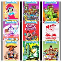 Complete Set Garbage Pail Kids Food Fight Topps Wax Digital NFT Art Card A&B Bas