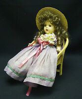 VINTAGE 30's COMPOSITION DOLL w/ SLEEP EYES 13""