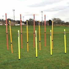 NEW Preicsion Adjustable Telescopic Football Agility Training Boundary Pole Set