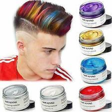 Mofajang Hair Color Wax Mud Dye Styling Cream DIY Coloring 6 Colors Unisex