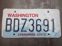 Washington (BDZ3691) American License Number Plate Collecting Craft Hobby